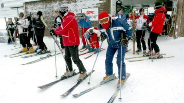 Prima neve del nuovo anno 2016 all'Abetone