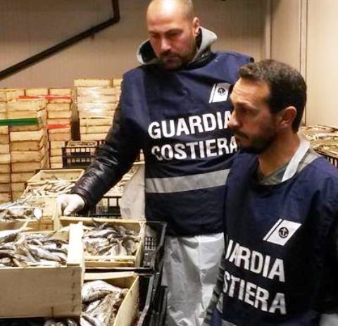 Al lavoro per reprimere la pesca illegale (foto Facebook Guardia Costiera)