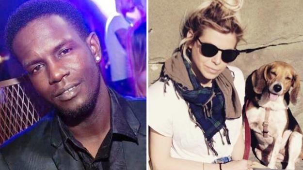 Da sinistra, il senegalese accusato di  omicidio e la vittima, Ashley Olsen