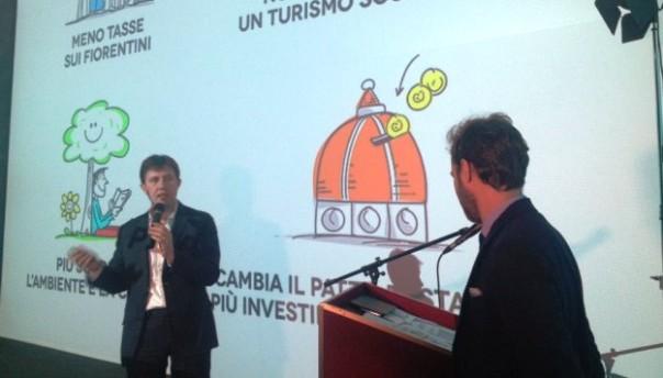 Il sindaco Nardella illustra il bilancio di previsione 2016 (foto Twitter - @DarioNardella)