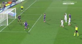 Il gol di Borja Valero, che porta la Fiorentina sul pareggio (Foto Mediaset)