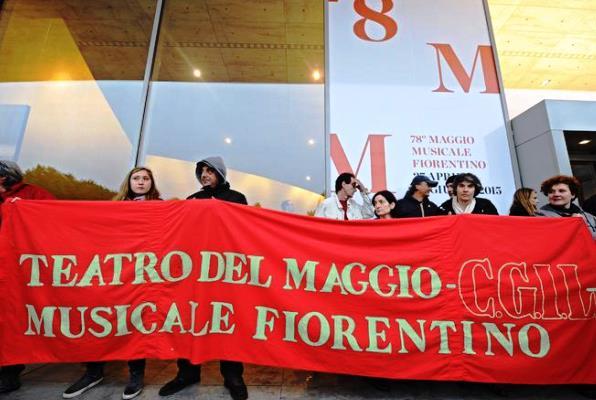 Maggio musicale, una protesta dei lavoratori