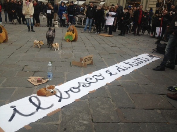 Manifestazione a Firenze contro la caccia