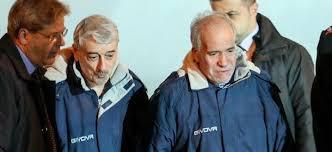 Gino Pollicardo e Filippo Calcagno accolti al loro sbarco a  Roma dal ministro degli esteri Paolo Gentiloni