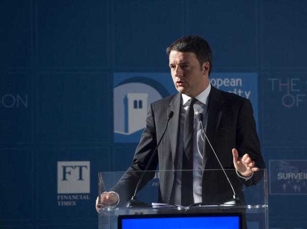 """Firenze, Renzi interviene a """"The State of the Union"""" Firenze, 8 maggio 2015 - Il Presidente del Consiglio, Matteo Renzi, interviene, a Palazzo Vecchio, alla conferenza """"The State of the Union""""."""