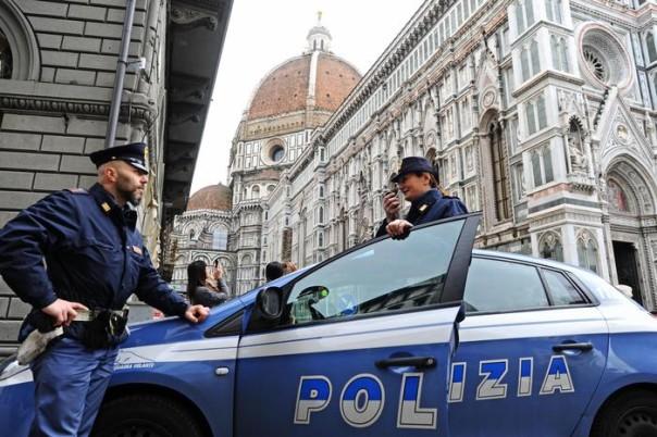 Controlli della polizia a Firenze