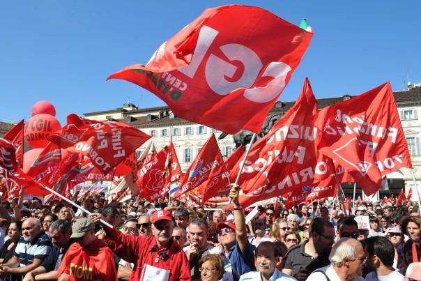 Manifestazione per lo sciopero generale della CGIL