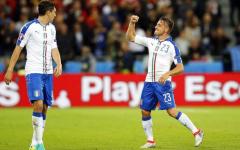 L'esultanza di Emanuele Giaccherini dopo il suo gol