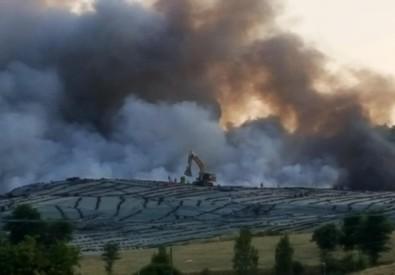 incendio discarica serravalle