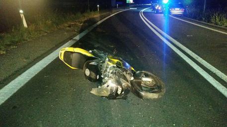 Incidente stradale, moto nel Pisano