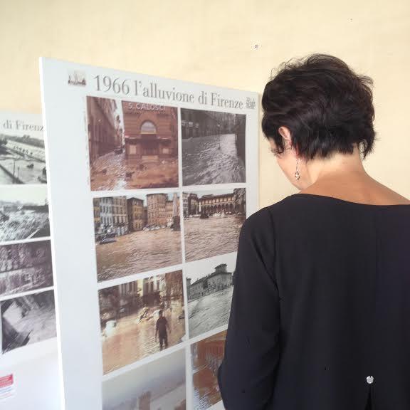 La mostra sull'alluvione del 1966 alla Biblioteca Thouar, in Oltrarno
