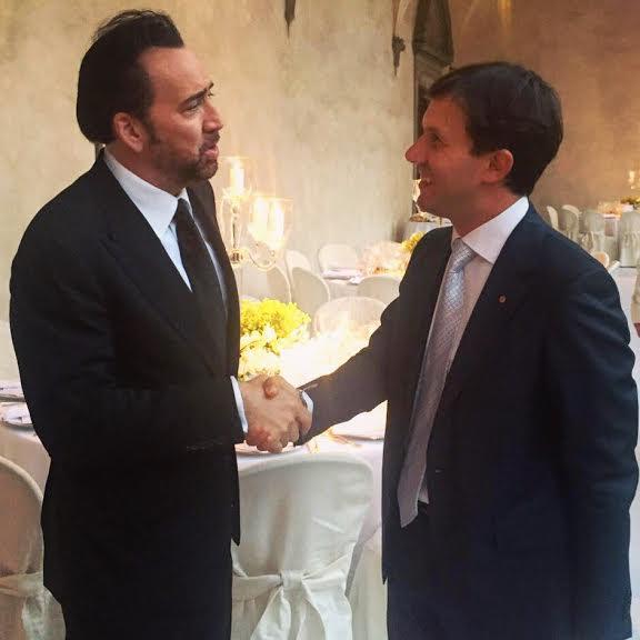 Nicolas Cage e il sindaco Dario Nardella