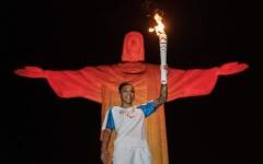 La judoka brasiliana Rafaela Silva, tedoforo