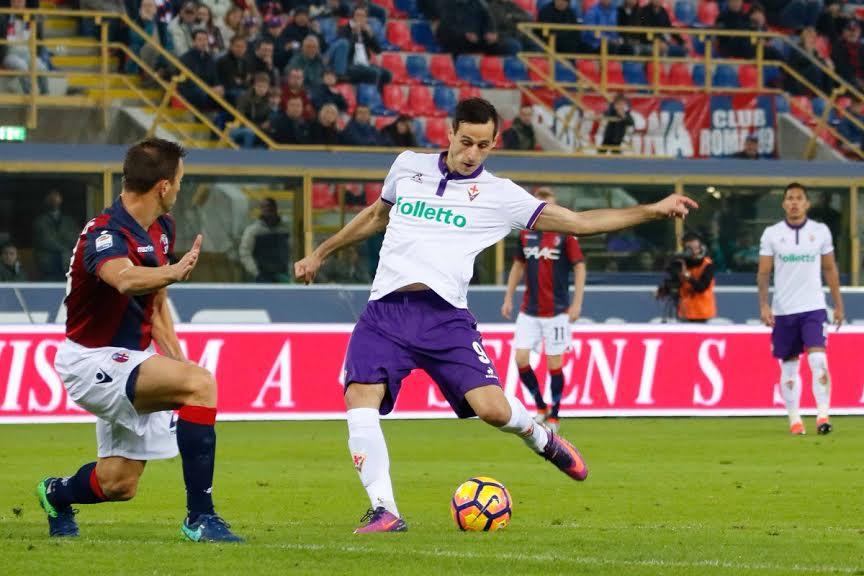 Kalinic: sale a 5 gol con il calcio di rigore che ha permesso alla Fiorentina di vincere a Bologna