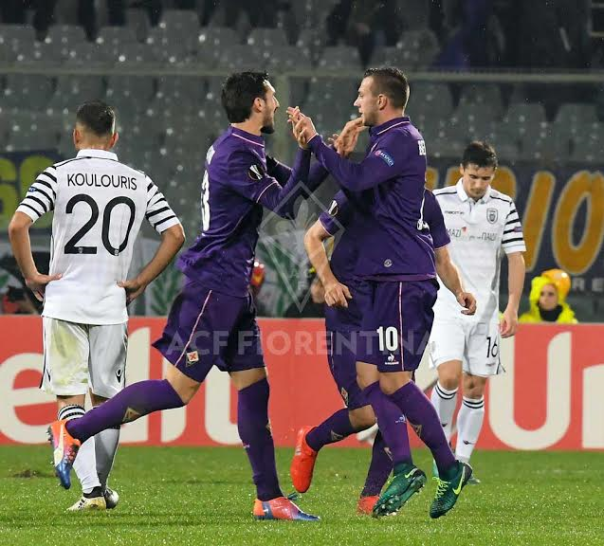 Bernardeschi esulta dopo il suo gol