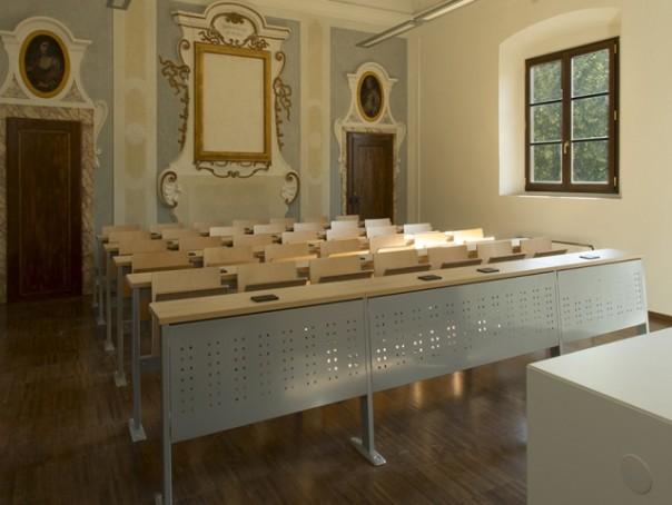 Un'aula della nuova sede della Facoltà Teologica