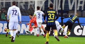 Il terzo gol nerazzurro, segnato da Icardi