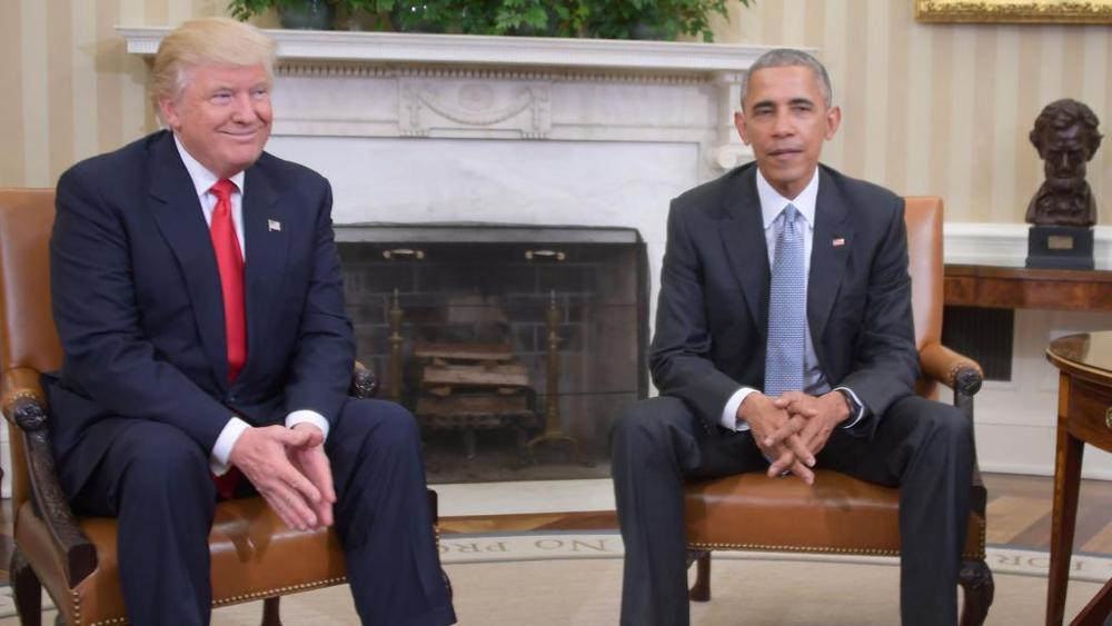 Il primo faccia a faccia fra Trump e Obama