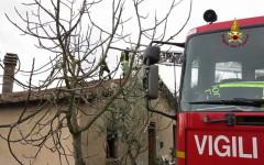 Brucia casa a San Casciano, un'anziana morta (Foto Vigili del Fuoco)