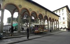 Il loggiato di piazza dei Ciompi
