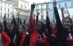 Un flash mob contro la violenza sulle donne