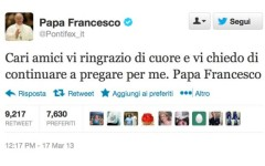 Il primo tweet di Papa Francesco