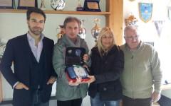 L'associazione Niccotestini ha donato oggi un defibrillatore al C.s Porta Romana Calcio