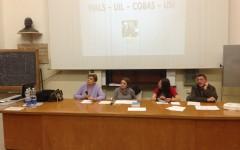L'assemblea dei lavoratori di Careggi insieme alle sigle sindacali Fials, Uil, Cobas e Usi