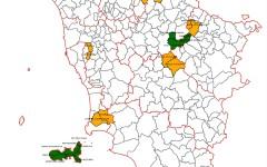 La cartina dei Comuni al voto (Fonte Anci)