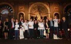 Premiazione dei vincitori delle Olimpiadi di Italiano a Palazzo Vecchio