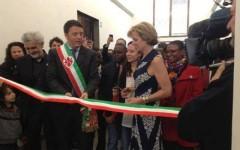 Il sindaco Matteo Renzi e Kerry Kennedy alle Murate di Firenze