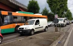 Acquazzone su Firenze e traffico in tilt