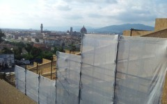 Piazzale Michelangelo sempre più «blindato»: lavori in corso da Pasqua