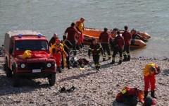 In Arno le ricerche dei Vigili del Fuoco