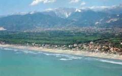 La costa ed il mare della Versilia