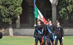 La Bandiera d'Istituto della Scuola Marescialli Carabinieri