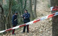 Il bosco dove i carabinieri di Bibbiena hanno rinvenuto i due cadaveri