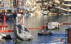 Le immersioni attorno al relitto della Concordia