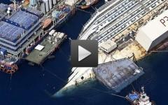 La rotazione della Costa Concordia live