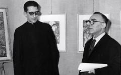 Don Luigi Stefani con il sindaco di Firenze Giorgio La Pira