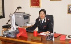 Il tenente Claudia Mesina della Compagnia di Signa