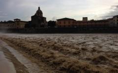 Il maltempo ingrosso anche l'Arno