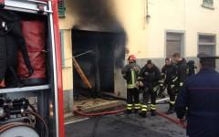 Incendio a Fiesole. Strada interrotta