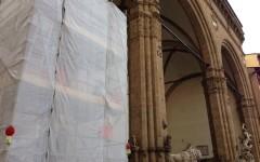 Perseo, tre settimane di restauri per la statua del Cellini