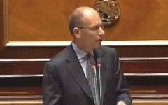 Enrico Letta in Senato