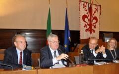 da sin. Mauro Pagliai, Paolo Armaroli. Giuseppe Morbidelli, Ginevra Cerrina Feroni