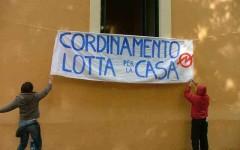 Attivisti del Movimento di Lotta per la casa