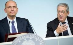 Il premier Letta ed il ministro dell'Economia Saccomanni