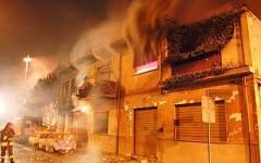 L'inferno a Viareggio la sera del 29 giugno 2009