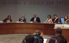 L'aula della Corte d'Appello di Firenze (Foto Riccardo Sanesi)
